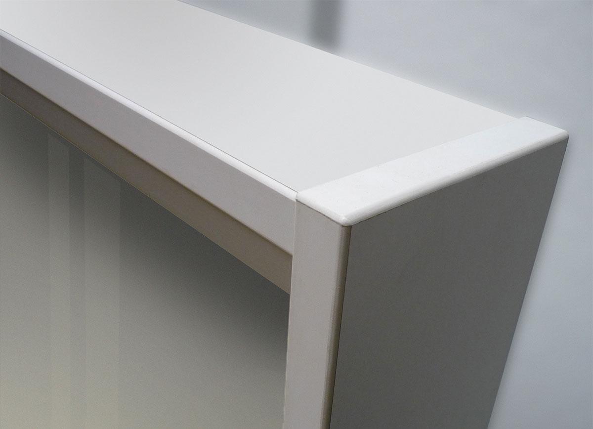 Schaukasten Holz - Detail Eckverbindung