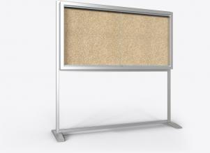 freistehender Schaukasten mit 2 Seiten, Stahlrahmen